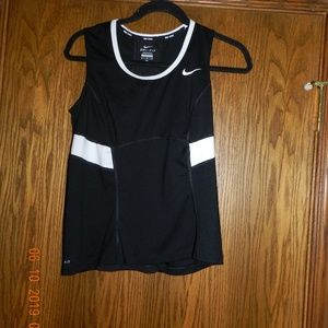 Women's Nike Dri-Fit Black and White Athletic Top